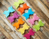 "Wool Felt Chunky Bows - ""Tropical Collection"" - Set of 10"