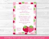 Strawberry Baby Shower In...
