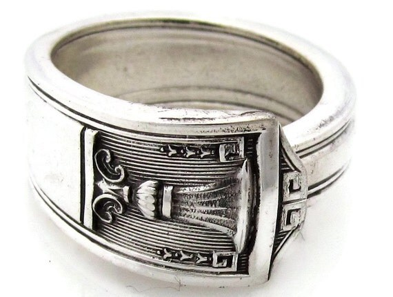 Silver Spoon Ring Size 10 Century Mens Silverware Jewelry