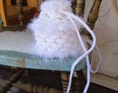 Snow Fairy  Dragon Scale Crocheted Drawstring Purse