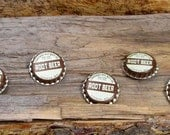 Upcycled Root Beer Cap Magnets set of 5