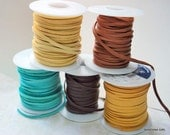 "10 feet 1/8"" Deer Skin Lace - Your choice of color  Free Shipping USA"