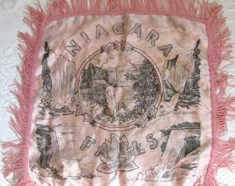 souvenir pillow . Niagara Falls Souvenir pillow . niagara falls . WWII era pillowcase