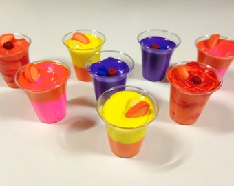 "18"" Doll Smoothies - 18 inch doll food, fruit smoothie - orange, lemon, berry, cherry 1:3 scale"