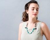 Faceted Gemstone Necklace, Gemstone Mix Necklace