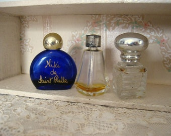 Antique 3 Mini Perfume Bottles Miniature Niki by Saint Phalle Reflexion