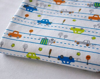 3669 - Car Cotton Jersey Knit Fabric - 74 Inch (Width) x 1/2 Yard (Length)