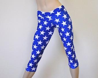 Yoga Pants - Workout Clothes - Hot Yoga - Fitness - Super Hero - Low Rise - Capri - SXY Fitness - Handmade - USA -
