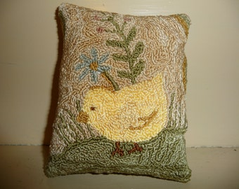 Little Chick Punch Needle Tuck In  Pattern