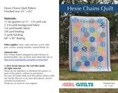 Instant Download PDF Hexie Chains Quilt Pattern