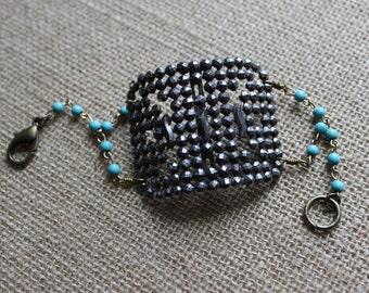 Antique Shoe Buckle Bracelet, Vintage Shoe Buckle Bracelet, Shoe Buckle Cuff Bracelet
