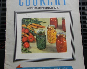 Vintage American Cookery Magazine, Aug-Sept 1942