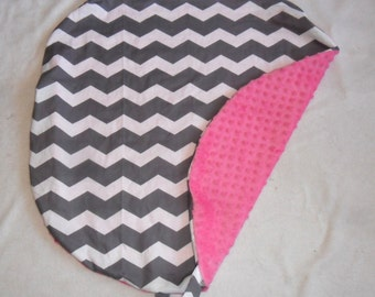 Gray Chevron and Minky Pillow Cover Fits Boppy Newborn Lounger CHOICE OF MINKY