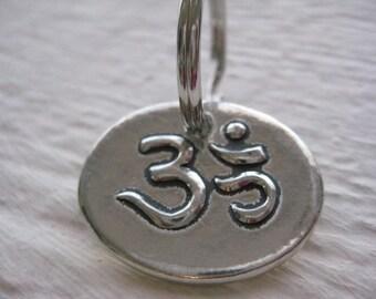Aum Keychain- Pewter, Gift, Yoga, Meditate