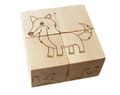 Wood Toy Animal Block Puzzle, personalized wooden toy
