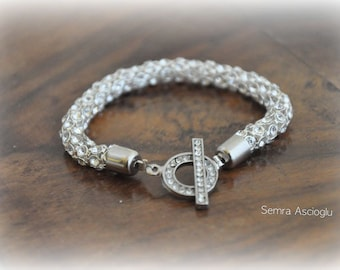 Brides bridesmaids gifts Rhinestone bridal wedding Necklace with Swarovski Clasp