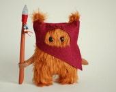 Star Wars Ewok Fur.12cm. Dark Red.