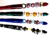 Glass Beaded Pens, Maroon Geen Blue Black Pens Colorful Glass Beaded Lampwork Pens, Graduation Gift for Her