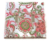 Double Light Switch Cover  Wall Decor   Light  Switchplate in Delphine   (184D)