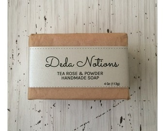 Tea Roses and Powder - OLIVE & SHEA BUTTER Soap - Cold Process Soap