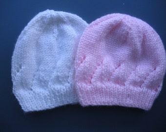 Newborn Baby Hat, PDF PATTERN, 0-6 months