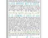 First Dance Lyrics Canvas, Personalized Wedding Gift Idea (custom song lyric art) Anniversary Gift 20x30