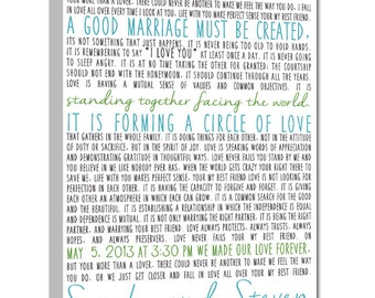 First Dance Lyrics Canvas, Personalized Wedding Gift Idea (custom song lyric art) Anniversary Gift 20x30