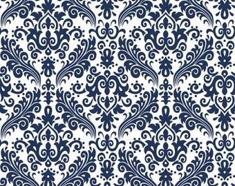 RBD, Medium Damask Navy on White (C820 21)