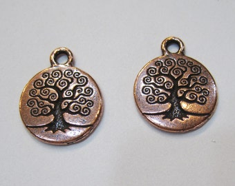 TierraCast Antique Copper Tree of Life Charms 19mm x 15.5mm One Charm