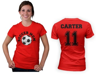 Soccer Mom Womens T Shirt - Front and Back Design