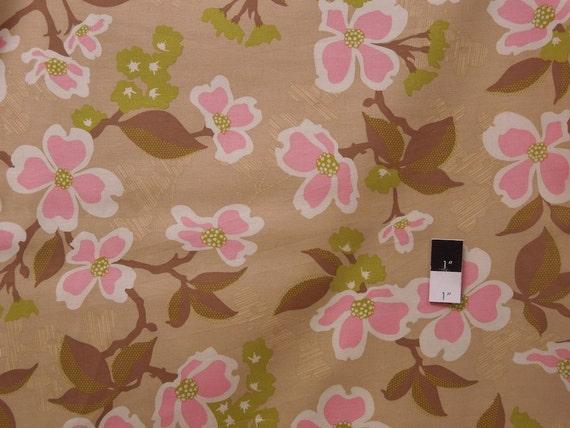 Joel Dewberry JD31 Modern Meadow Dogwood Bloom Pink Cotton Fabric 1 Yard