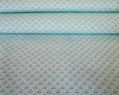 Vintage Dotty Floral Pale Blue Fabric - 1 Yard