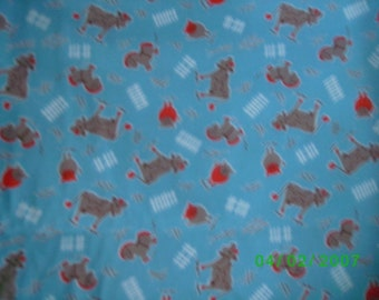 Children,s Novelty Quilt Fabric  Old McDonald,s Farm on Blue