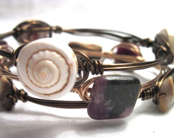 TUTORIAL: Wire-Wrapped Stack Bracelets
