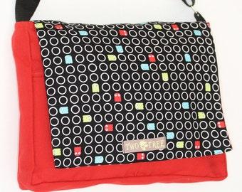 Red PACMAN Arcade MESSENGER Book Laptop iPAD Diaper BAG