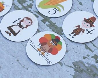 Thanksgiving Countdown Magnet Set