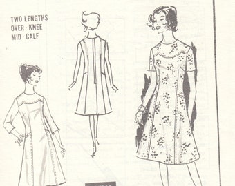 """1960's Vintage Sewing Pattern Ladies' Dress Mail Order 3391 37"""" Bust - Free Pattern Grading E-book Included"""