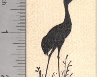 Crane Silhouette Rubber Stamp, Heron H18005 WM