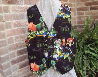 Toy Story Vest--Woody with friends--No Toy left Behind--Adult Vest, waistcoat cosplay