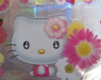Hello Kitty Silver Holographic Stickers