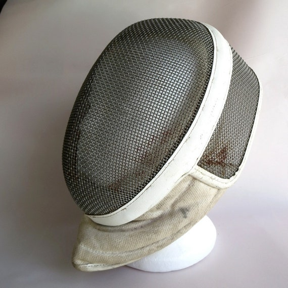 Vintage Fencing Mask Industrial Eclectic Home Decor French Paris