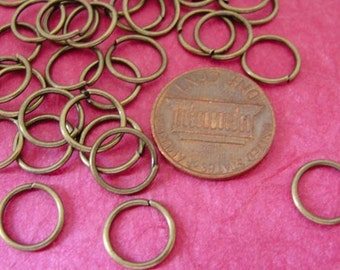 10mm Antique Brass  open unsoldered  jumprings,  Large Jumprings, 100 pcs, JRAB4608