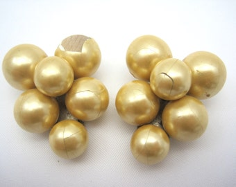 Vintage Dress Clip - Bridal Champagne Cream Pearl Clip 1930s Jewelry