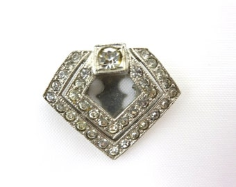 Art Deco Dress Clip - Rhinestone Bridal Jewelry