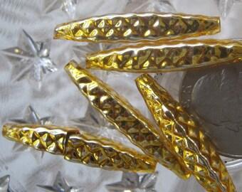 5 Glass Garland Beads Gold Christmas Garland Beads Czech Republic 055G
