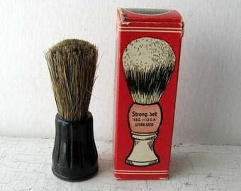 Vintage 1950's Strong Set Shaving Brush in Original Advertising Box