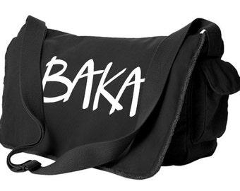 Anime Bag baka messenger bag anime school bag japanese laptop bag otaku japan geek bag funny college bag anime gift japan geek hipster
