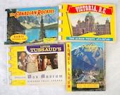 DESTASH Ephemera Lot - VIntage Souvenir Photo Postcard Packs - Canada - 4 in all