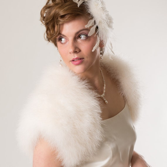 Luxurious Bridal Marabou Shrug/ 3 colors available