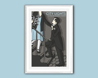 Movie poster City Lights retro print in various sizes